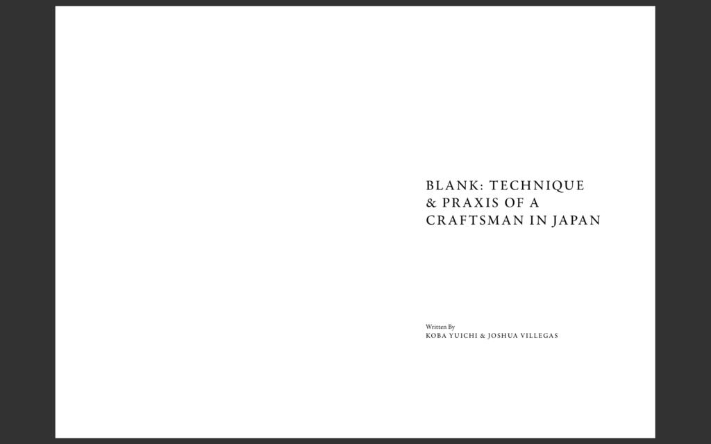 BLANK BOOK。